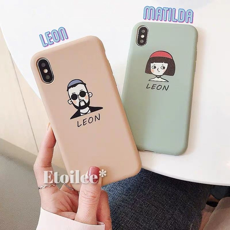 Leon Matilda brown green iphone case