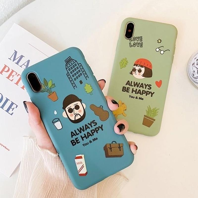 Leon Matilda blue green iphone case