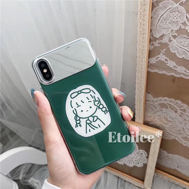 Green girl  mirror iphone case