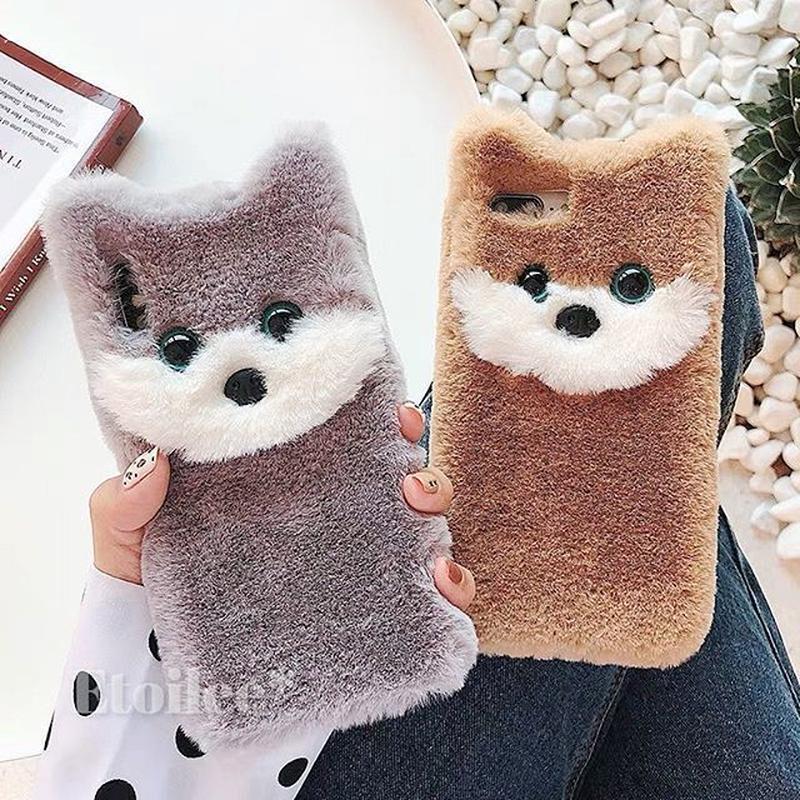 Grey brown dog fur iphone case