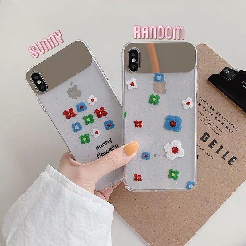 Flower clear mirror iphone case