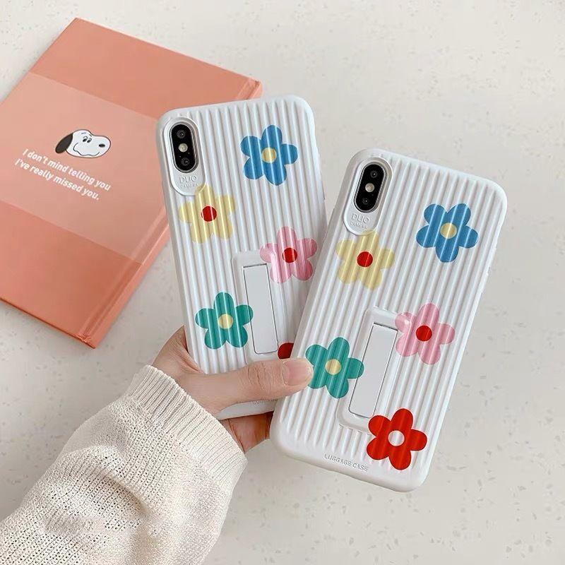 White flower luggage  iphone case