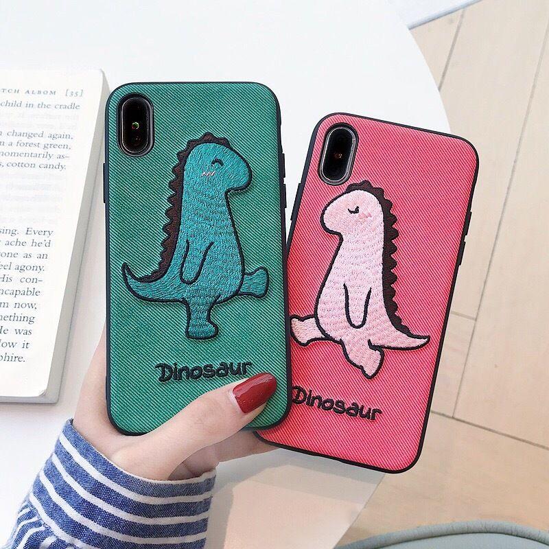 Dinosaur green red iphone case
