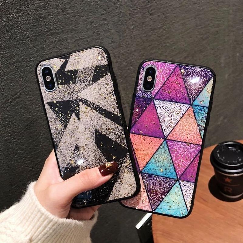 ⚠️発送遅延⚠️Geometric pattern iphone case