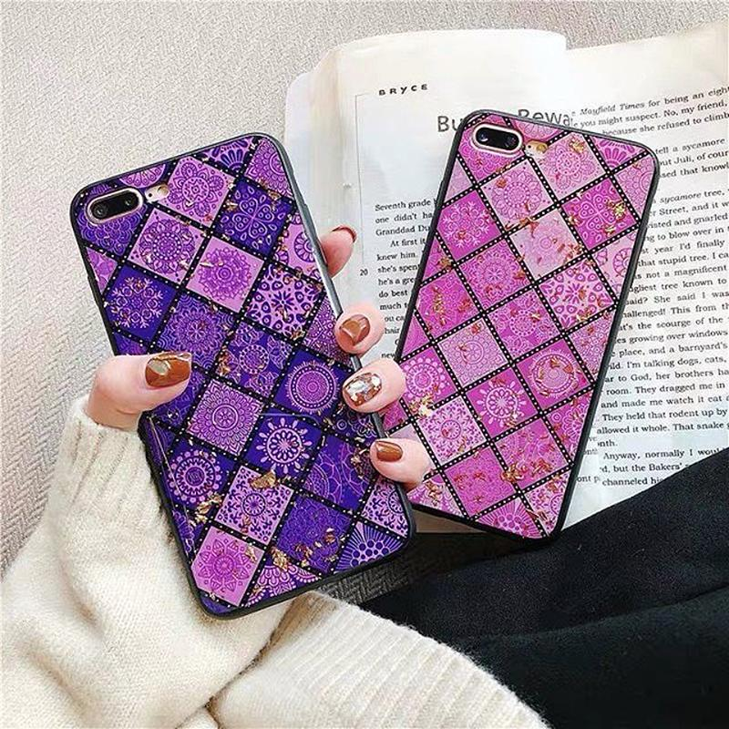 Ethnic purple pink iphone case
