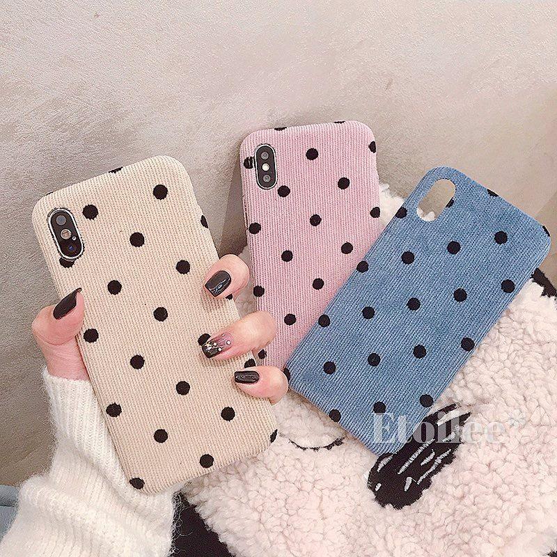 Dot fabric iphone case
