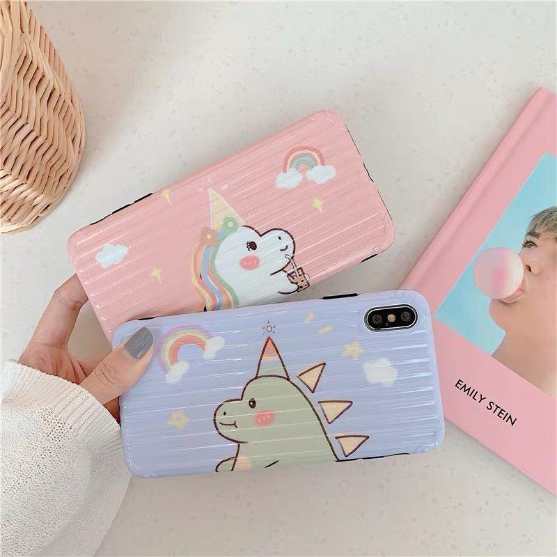 Unicorn blue pink iphone case