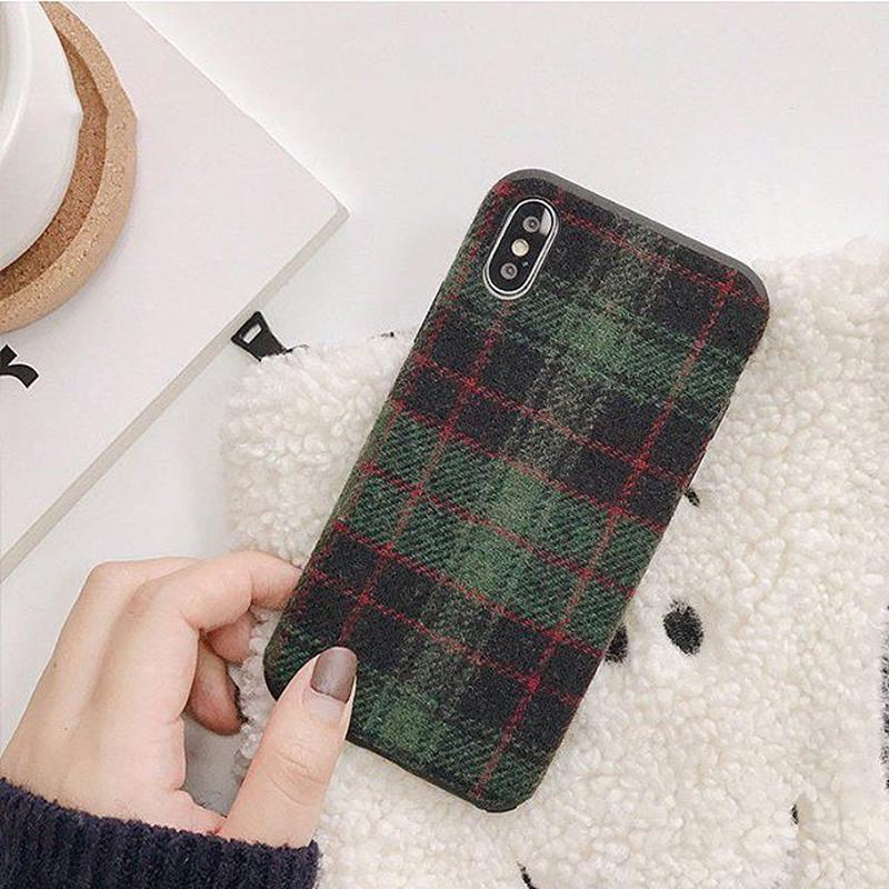 Green check iphone case