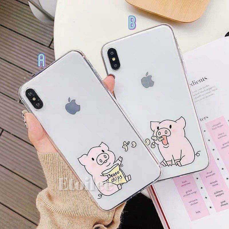Pig potatochips iphone case