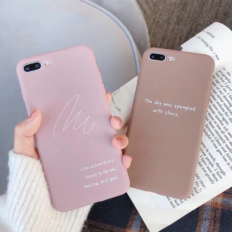 Doodle pink brown iphone case