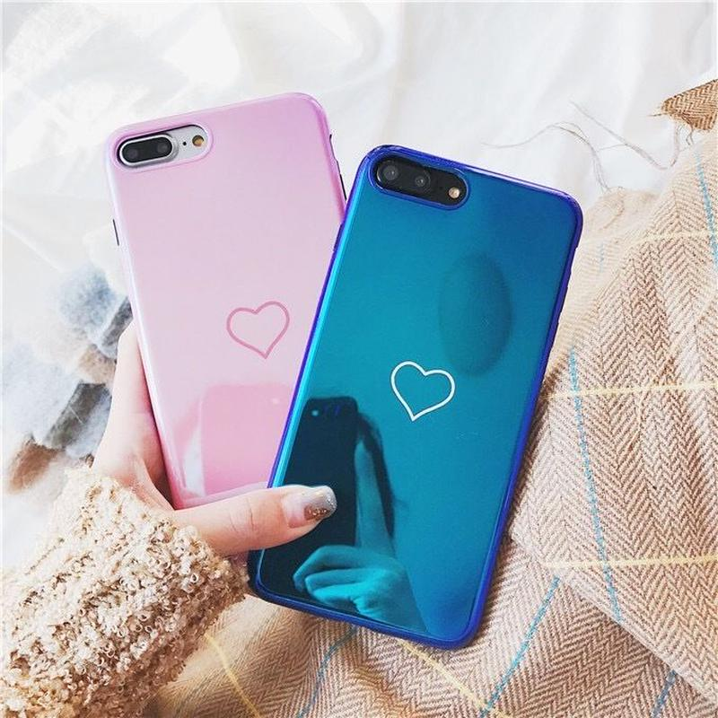 Laser heart line iphone case