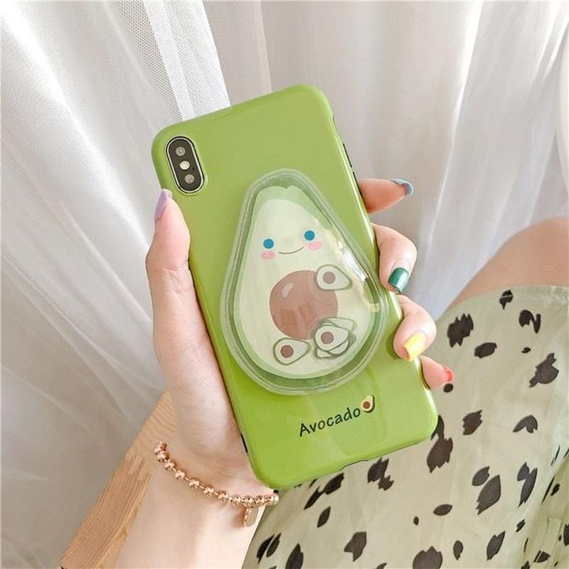 Avocado bubble iphone case