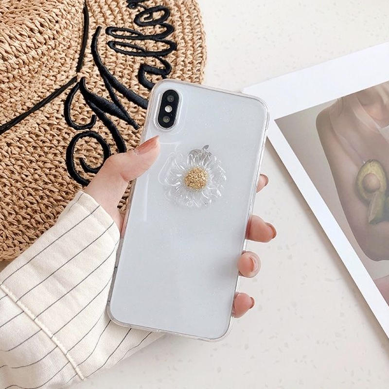 Clear flower iphone case