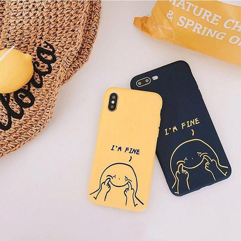 I'm fine iphone case