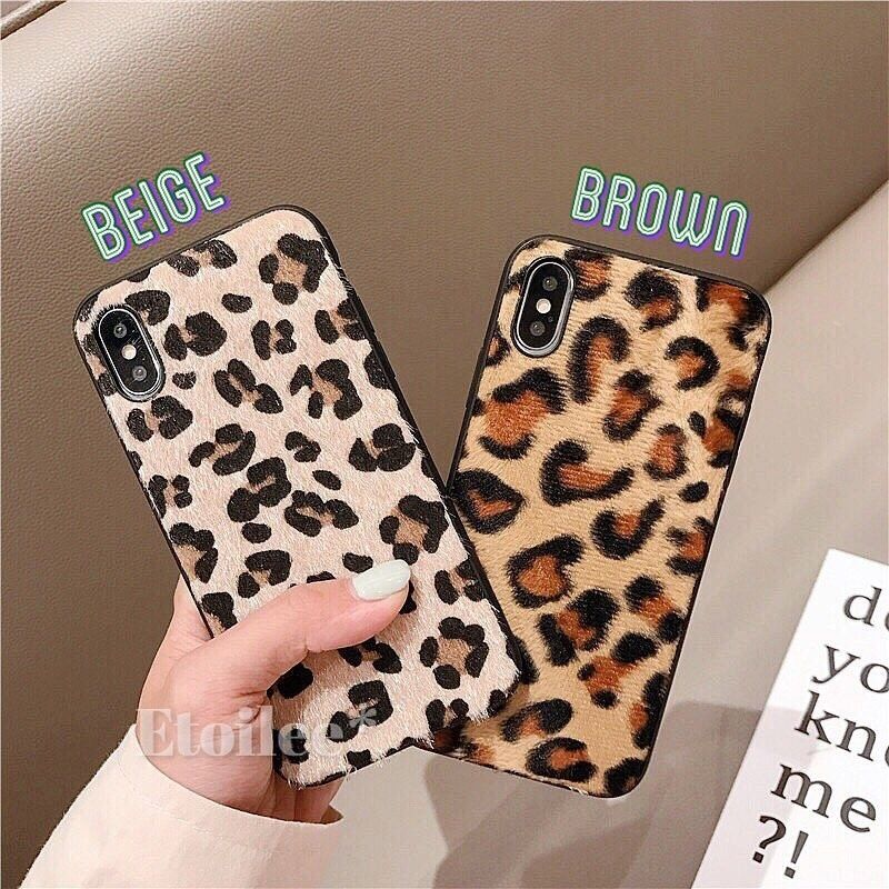 Leopard black side iphone case