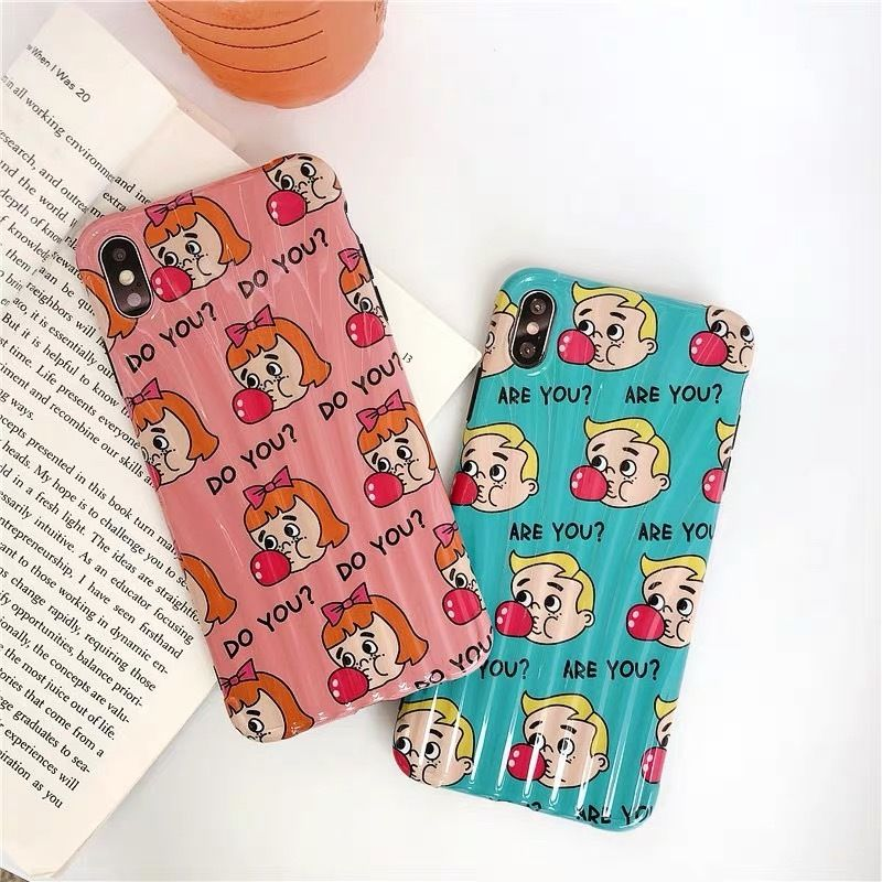 Bubble gum boy girl iphone case