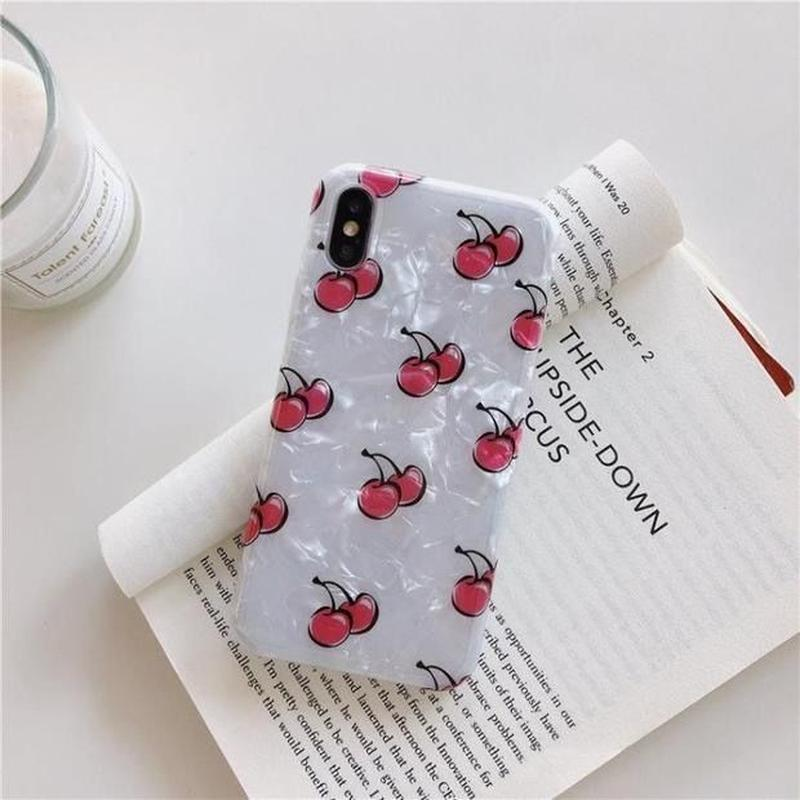 Red cherry shell iphone case