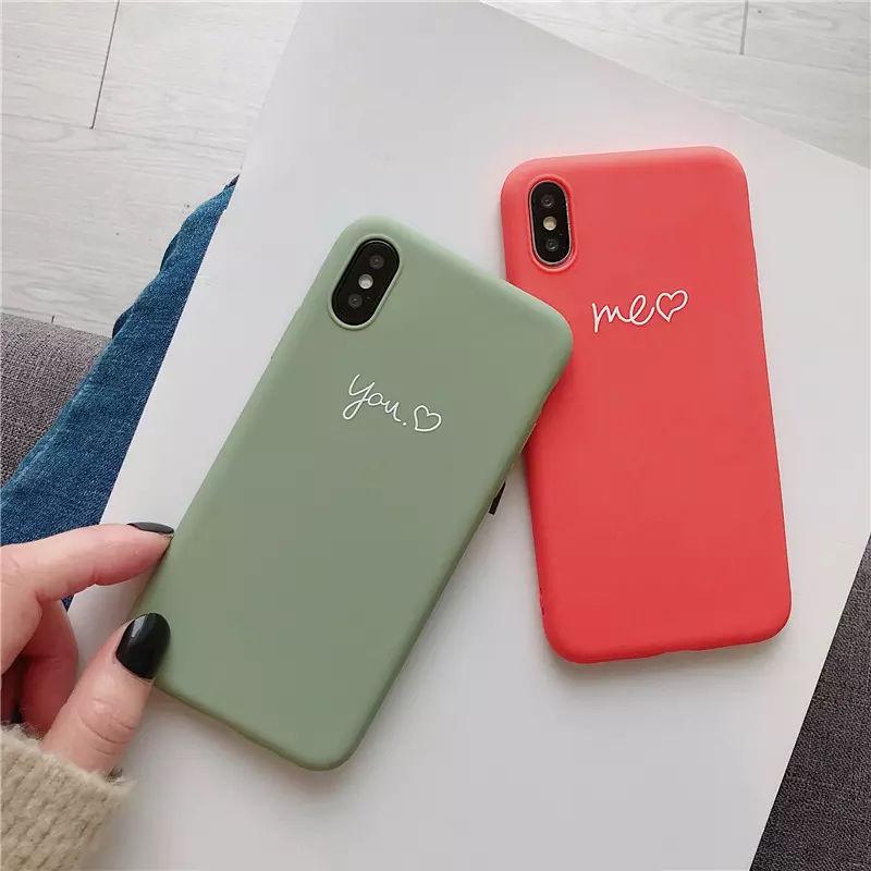 You me orange green iphone case