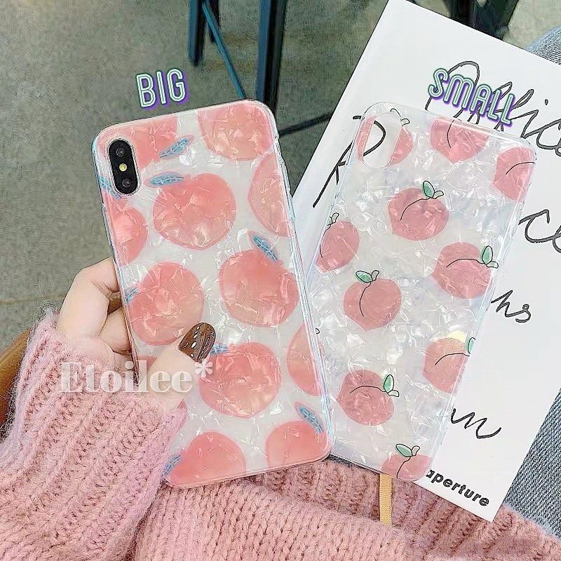 Peach shell iphone case