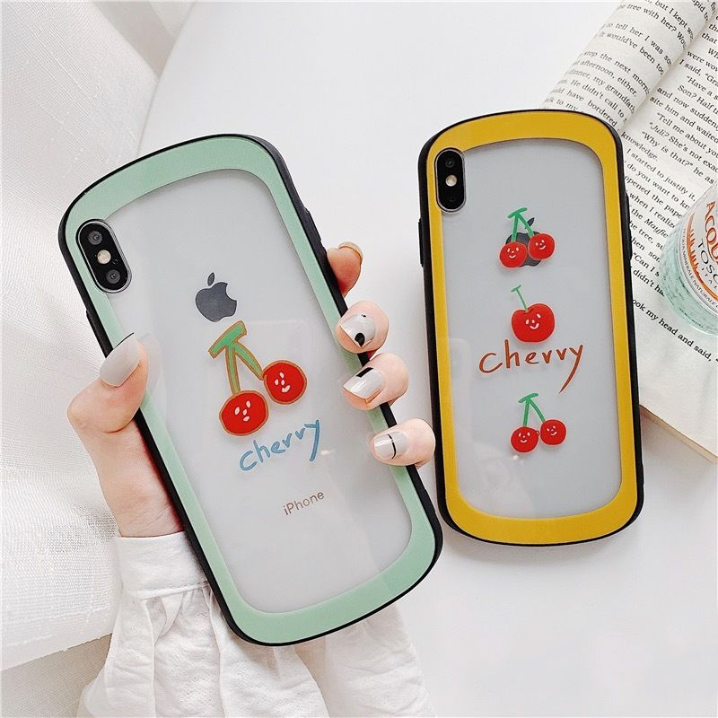 Cherry color side  iphone case