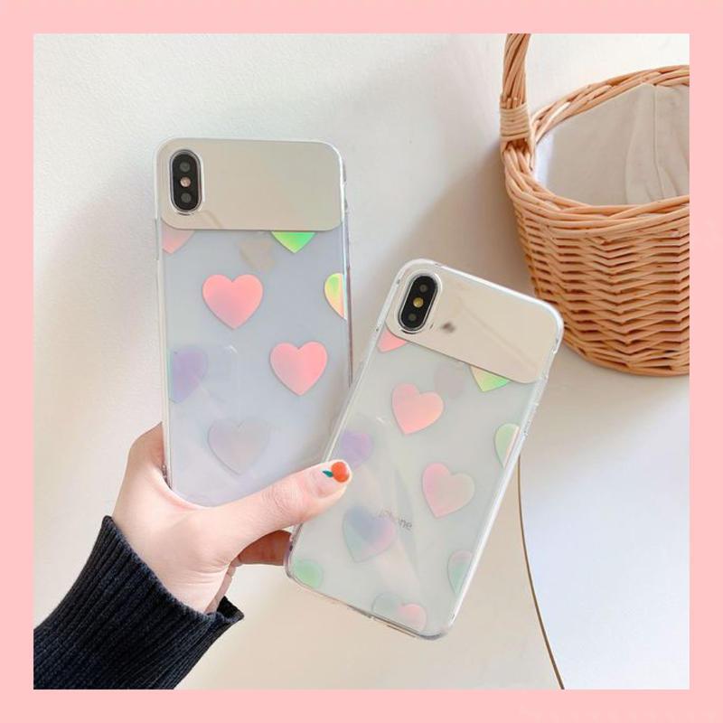 Heart laser mirror iphone case