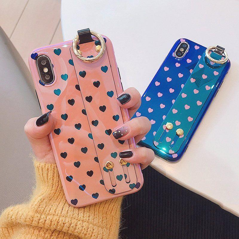 Heart laser strap iphone case