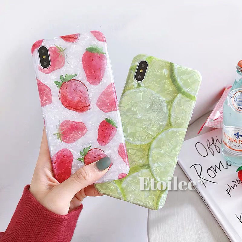 Strawberry lemon shell iphone case