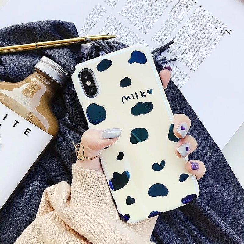 Milk laser iphone case