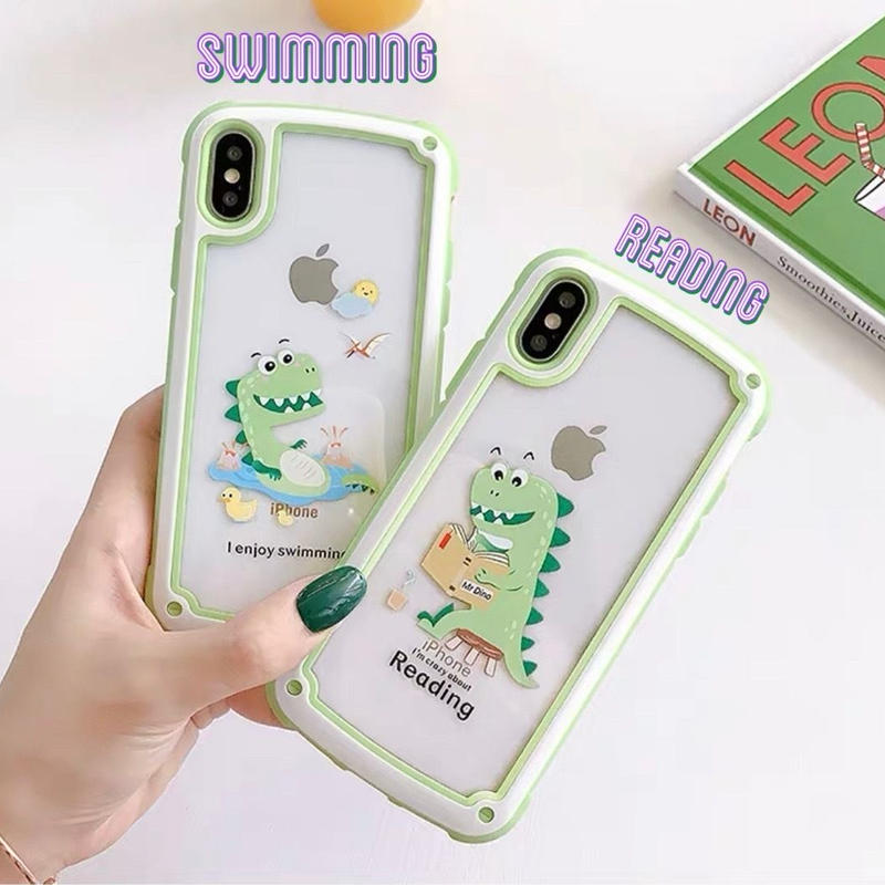 Dinosaur green side  iphone case