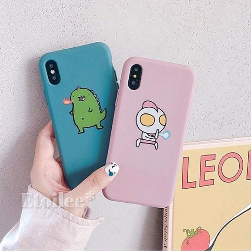 Pink blue TPU iphone case