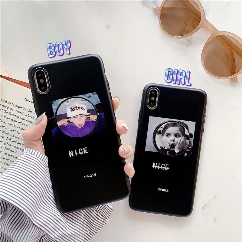 Boy girl with grip iphone case