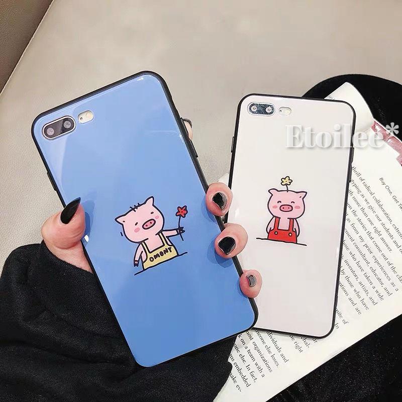 Pig black side iphone case