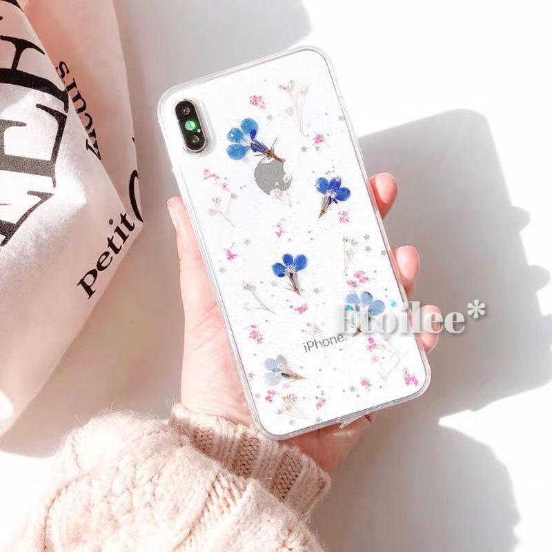 ⚠発送遅延⚠Blue flower iphone case