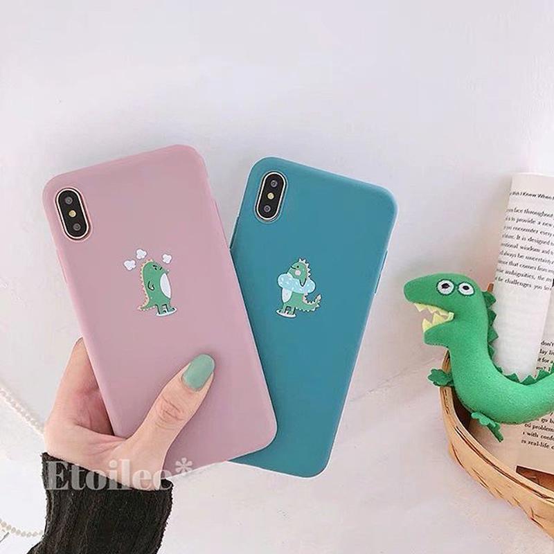 Little dinosaur pink blue iphone case
