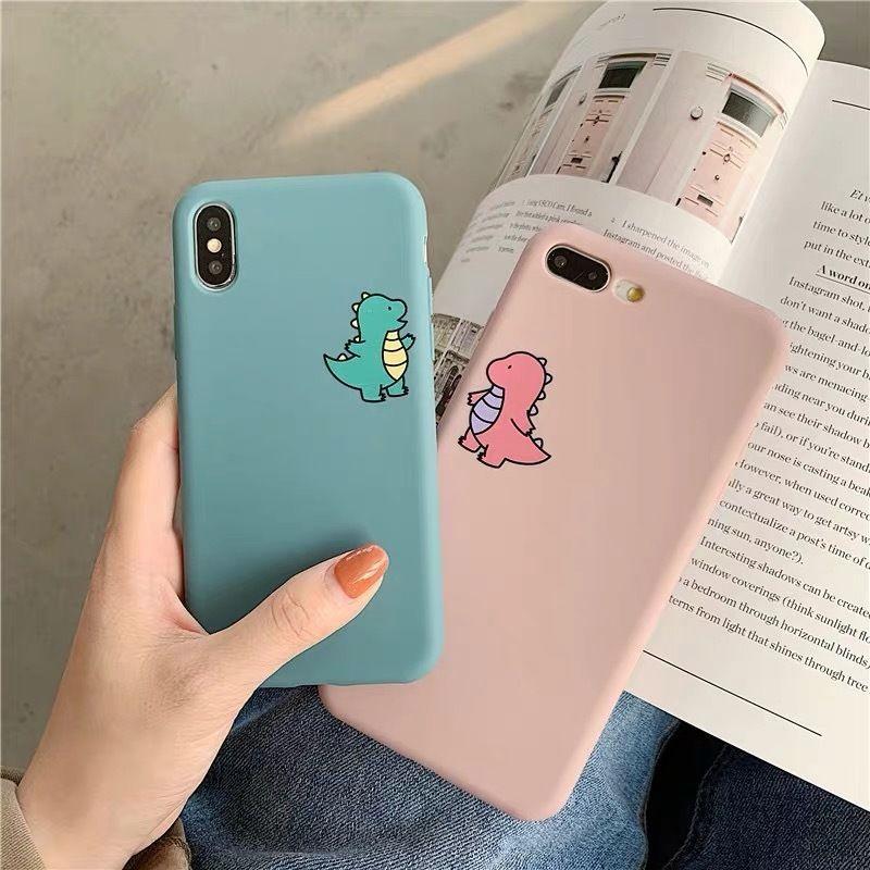 Dinosaur pink blue iphone case