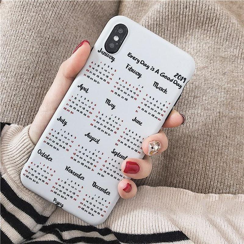 2019 Calendar iphone case