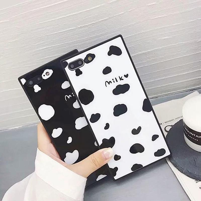 Milk square iphone case