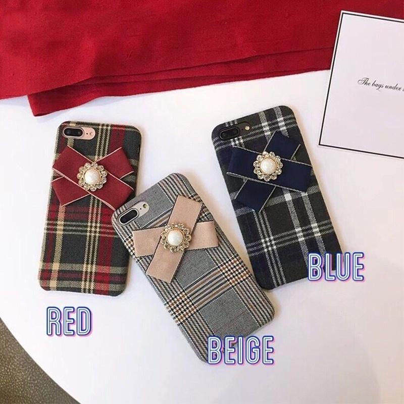 Grid ribbon iphone case