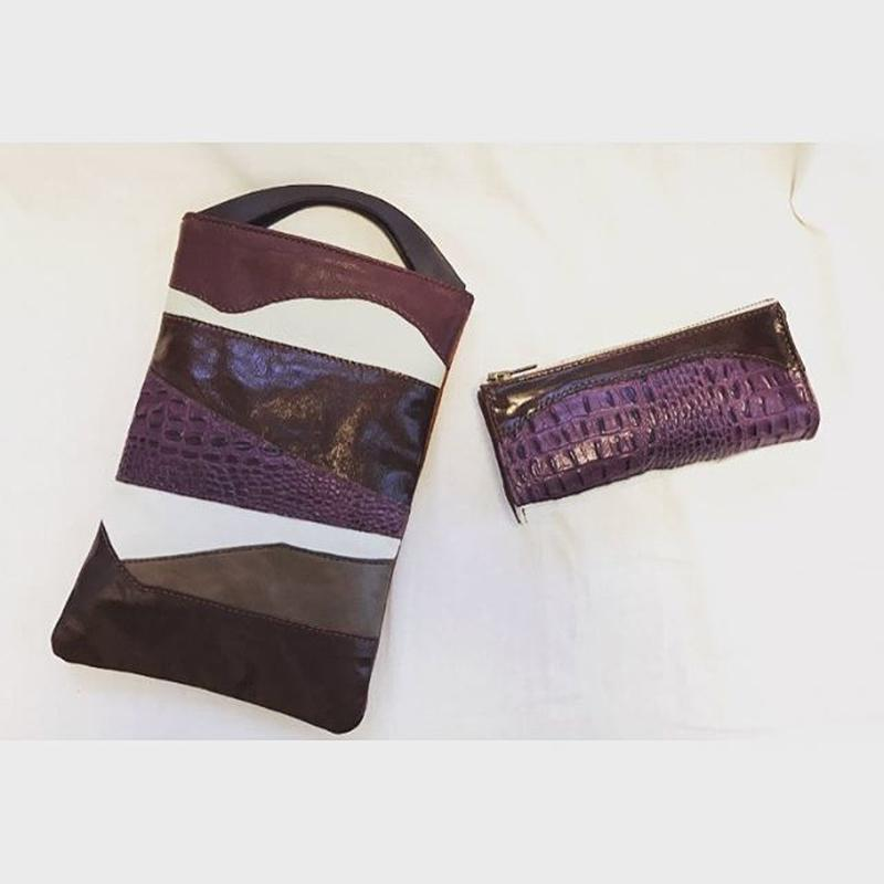 CLUTCH/TOTE BAG  &  CLUTCH BAG with zipper        #set gift