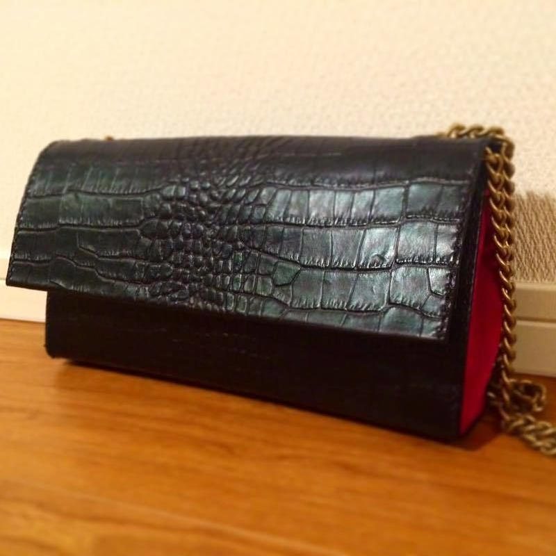 Clutch and Shoulder 2way bag #chain type