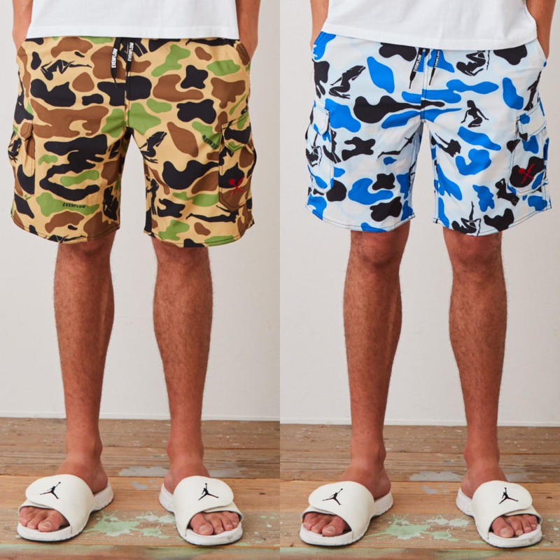 "SURF  CARGO  SHORTS  ""Lady  Camo""  by  EVENFLOW"