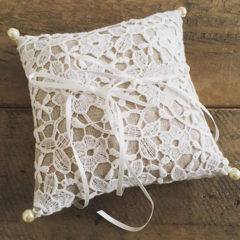 【手作りキット】正方形リングピロー Linen Flower
