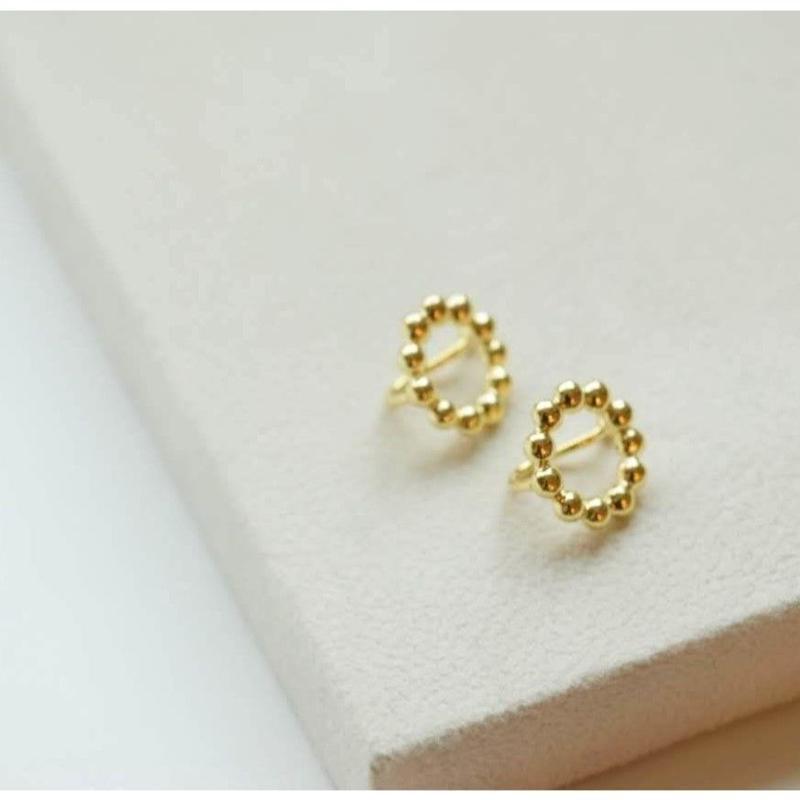 hanamaru.円でつくる花のイヤリング