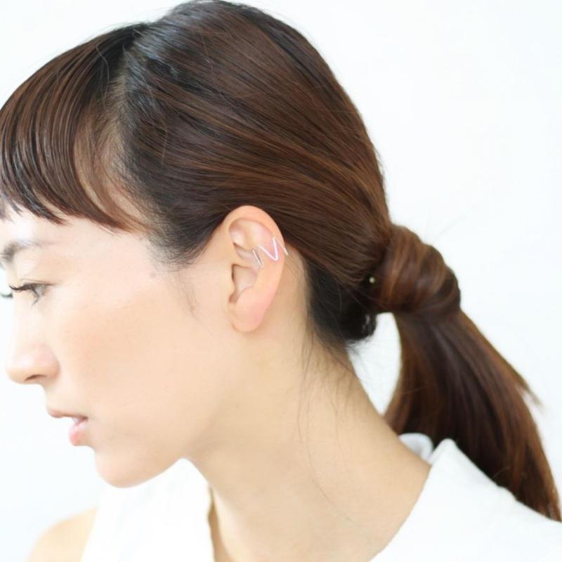 rhythm  ear cuff(ゴールド/シルバー)
