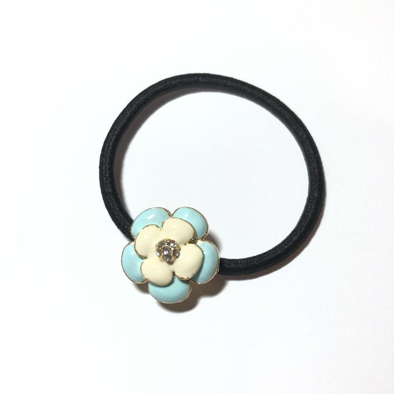 mini- フラワー型 ヘアゴム◆全2色