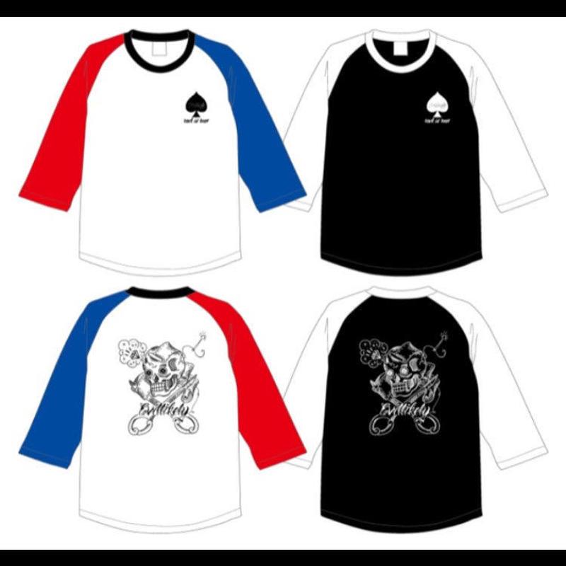 evil likely  7部袖ラグランスリーブTシャツ