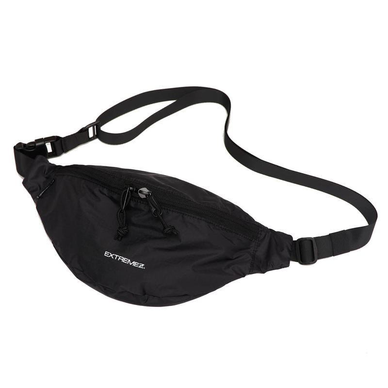 PACKABLE LIP-STOP BUM BAG/BLACK/EZZ0190003