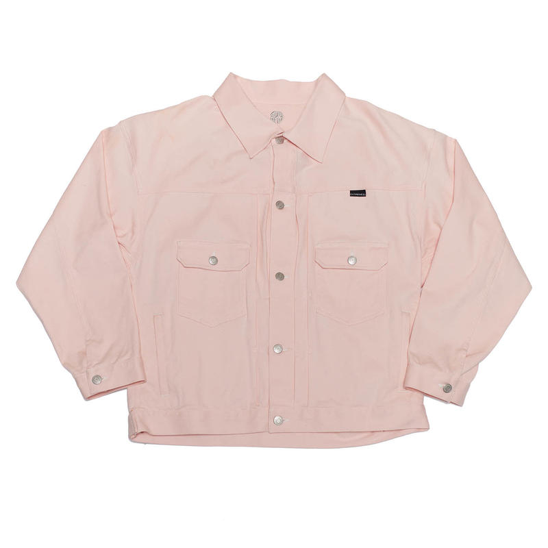COLOR STITCHING BIG BLOUSON/PINK/EZB0190002