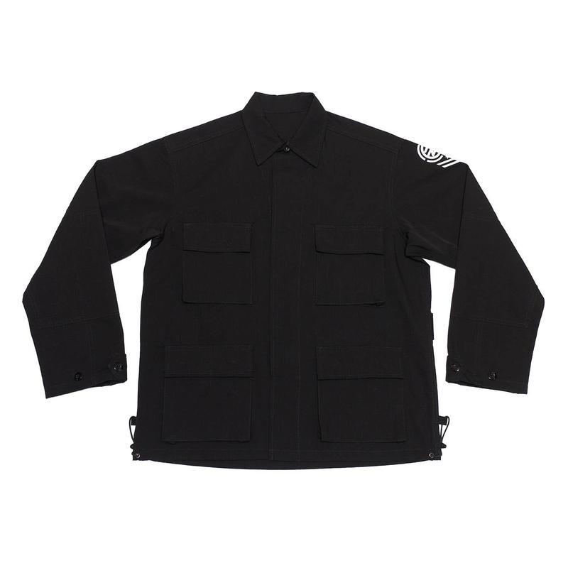 DRAW COAD MILITARY JACKET/BLACK/EZJ0190002