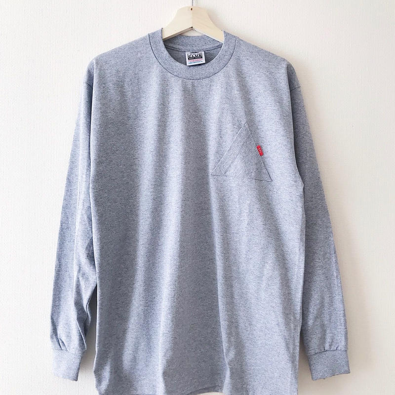 "EYL ""Triangle Pokcet L/S TEE"" Heather Gray"